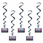 5 decorazioni a sospensione a tema Cassette Anni '80