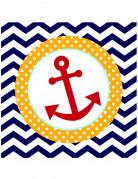 18 tovaglioli di carta da marinaio