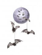 Decorazione Halloween luna e pipistrelli