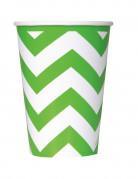 6 bicchieri di carta da 340 ml a zig-zag verdi