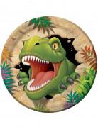 8 piattini Dinosauri