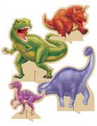 4 decorazioni tavola Compleanno dinosauri