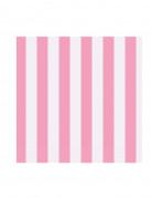16 tovagliolini di carta a righe rosa e bianche