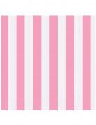 16 tovaglioli di carta a righe rosa 33 cm x 33 cm
