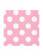 16 tovaglioli piccoli di carta a pois bianchi di 25 x 25 cm