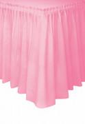 Gonna da tavola in plastica rosa chiaro da 73 x 426 cm