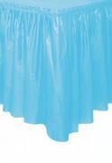 Rivestimento di plastica da tavolo colore blu pastello 73 cm x 426 cm
