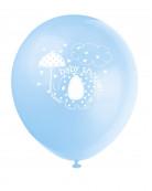 Lotto di 8 palloncini stampati Elefante Blu
