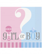 20 tovaglioli di carta Girl or Boy 33 x 33 cm