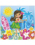 Confezione di 16 tovaglioli hawaiani