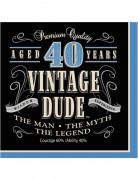 Confezione da 16 tovaglioli di carta 40 anni