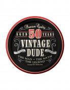 8 Piattini di carta per un compleanno Vintage 50 Anni