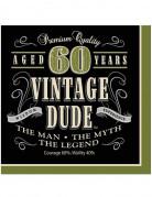 16 tovaglioli stile vintage 60 anni