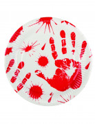 6 piatti mani insanguinate 23 cm