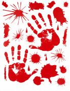 Decorazione adesiva di impronte di mani sanguinanti