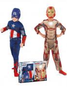 Pacchetto di travestimenti da Captain America & Iron Man per bimbo