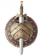 Scudo e spada da guerriero spartano