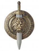 Una spada e uno scudo da gladiatore