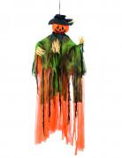 Decorazione di Halloween con zucca spaventapasseri appendibile