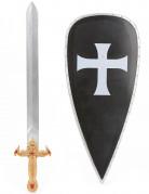Scudo e spada da cavaliere crociato per bambino