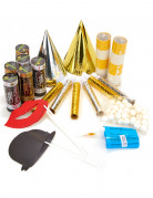 Kit da festa oro e argento con set da photobooth