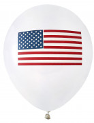8 Palloncini in lattice con bandiera USA