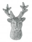 2 piccole figurine a forma di renna argentate