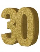 Decorazione da tavolo 30 anni color oro 20 x 20 cm