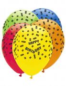 6 palloncini in lattice con pezzi di costruzioni