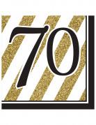 16 tovaglioli 70 anni nero e oro