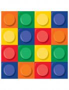 16 tovaglioli di carta gioco di costruzioni di 33 x 33 centimetri