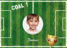 Foglio di zucchero A4 personalizzabile campo calcio goal