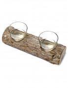 Candeliere ceppo in legno 21 cm