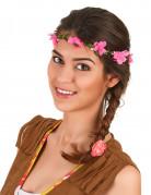Coroncina di fiori rosa adulto