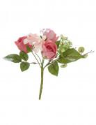 Mini bouquet di rose artificiali di colore fucsia