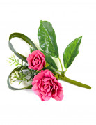 Decorazione da tavola rose finte fucsia