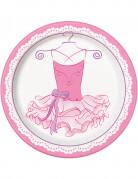 8 piatti di carta a tema ballerina 23 cm
