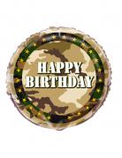 Palloncino alluminio militare compleanno