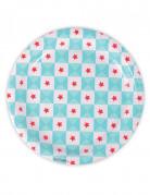 Confezione da 8 piatti di carta con motivo geometrico