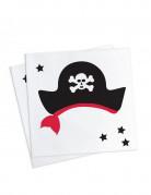 20 tovaglioli di carta con cappello dei pirati 25x25 cm
