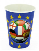 6 bicchieri di carta Europei 2016