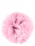 Ponpon di carta rosa da appendere 35 cm