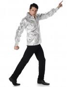 Camicia argentata disco brillante da uomo
