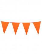 Ghirlanda con bandierine arancioni