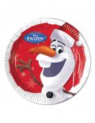 8 piatti in cartone Olaf Christmas