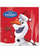 Confezione 20 tovaglioli di carta Olaf Christmas di Frozen