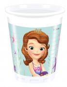 Confezione 8 bicchieri di plastica Sofia la principessa™