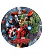 8 piatti di carta da 23 cm Avengers Power™