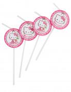6 cannucce di Hello Kitty™con medaglioni