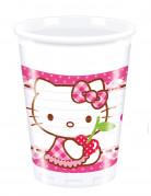 8 Bicchieri di plastica con decoro Hello Kitty™